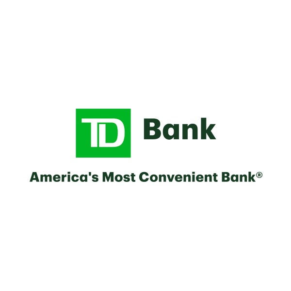"TD Bank logo with tagline ""America's most convenient bank"""
