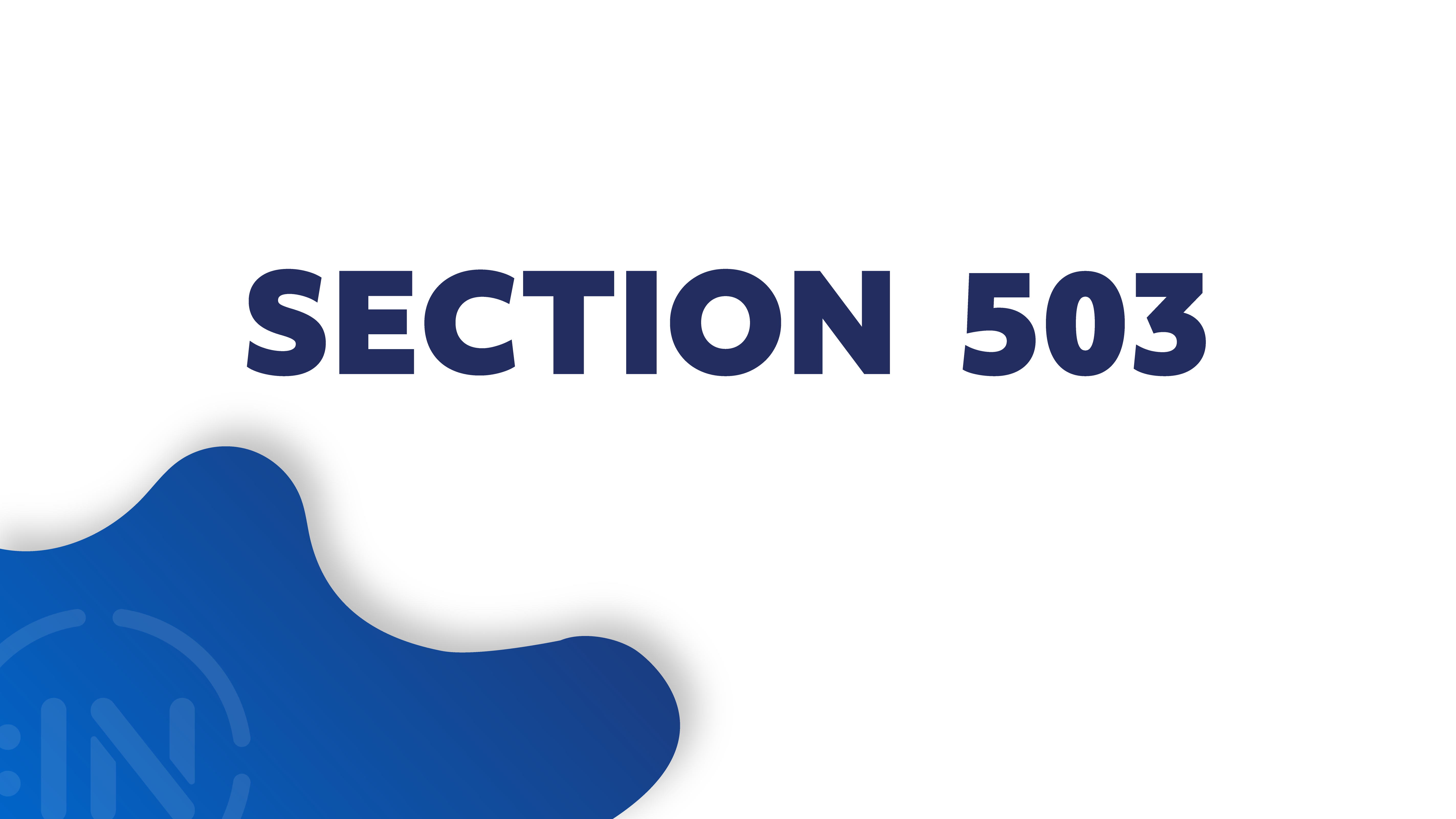 Session related to Section 503