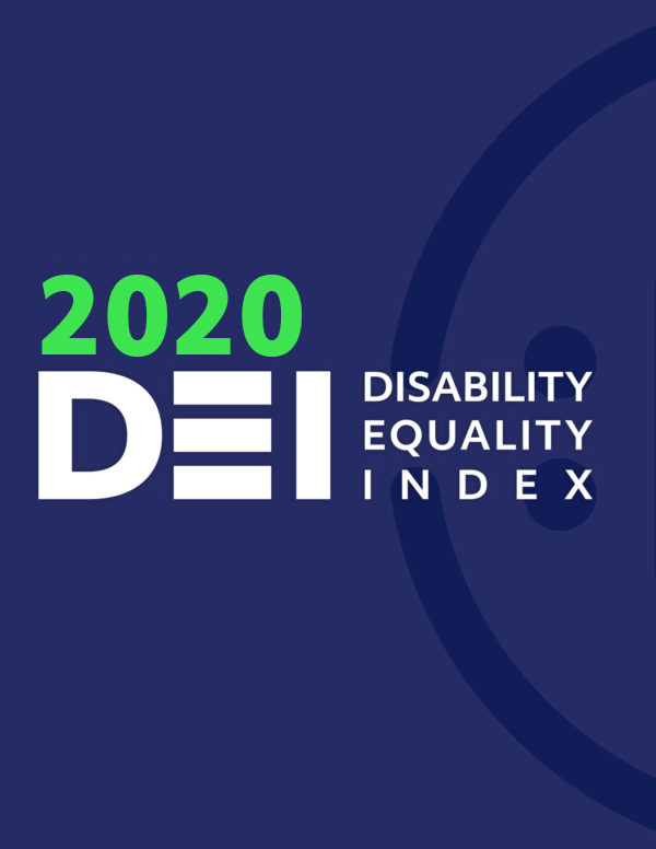 2020 Disability Equality Index logo on report cover