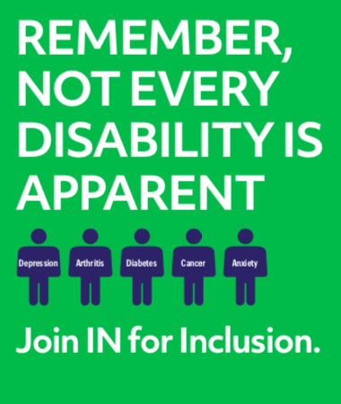 Remember, not every disability is apparent.